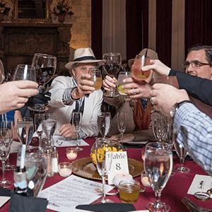 Denver Murder Mystery guests raise glasses